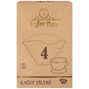 Coffee Time Filtre Kahve Kağıdı 4 Numara 40'lı