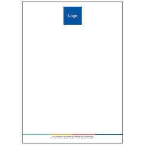 Antetli Kağıt 100 Adet - Gökkuşağı Antetli Kağıt