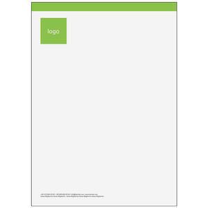 Antetli Kağıt 100 Adet - Klasik Antetli Kağıt Yeşil