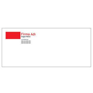 Diplomat Zarf 100 Adet - Klasik Diplomat Zarf Kırmızı