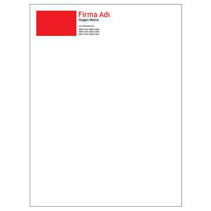 Torba Zarf 100 Adet - Klasik Torba Zarf Kırmızı