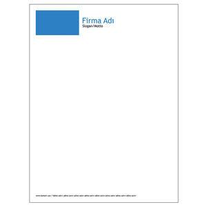 Torba Zarf 100 Adet - Klasik Torba Zarf Mavi