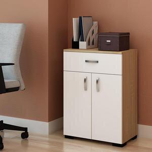 Avansas Comfort Çok Amaçlı 2 Kapaklı Tek Çekmeceli Dolap Beyaz / Endülüs Meşe