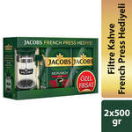 Jacobs Monarch Aroma Filtre Kahve 2 x 500 gr French Press Hediyeli