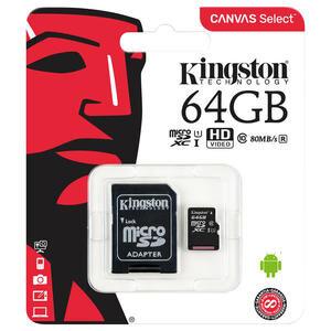 Kingston SDCS/64GB Canvas Select 64 GB Class10 Micro SD Kart