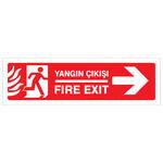 Yangın Çıkışı Sağ PVC Dekota Uyarı Levhası P2B-02104