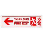 Yangın Çıkışı Sol PVC Dekota Uyarı Levhası P2B-02105