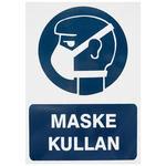 Maske Kullan PVC Dekota Uyarı Levhası P1D-02104