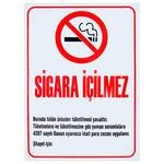 Sigara İçilmez PVC Dekota Uyarı Levhası P1D-02138