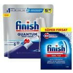 Finish Quantum Bulaşık Makinesi Tableti 50'li Paket  + Finish Bulaşık Makinesi Tuzu 1500 gr
