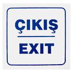 Çıkış Exit PVC Dekota Uyarı Levhası P2A-02137