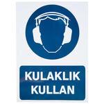 Kulaklık Kullan PVC Dekota Uyarı Levhası P1D-02103