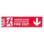 Yangın Çıkışı Düz PVC Dekota Uyarı Levhası P2B-02106