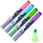 Serve Likit Fosforlu Kalem Karışık Pastel Renk 4'lü Paket