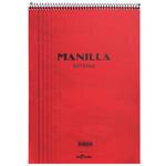 Le Color Manilla Notepad Bloknot Kareli A4 Kırmızı 70 Yaprak