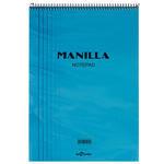 Le Color Manilla Notepad Bloknot Kareli A4 Mavi 70 Yaprak
