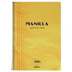 Le Color Manilla Yumuşak Sarı Kapaklı Spiralli Kareli Defter 17 cm x 24 cm 90 Yaprak