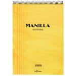 Le Color Manilla Yumuşak Sarı Kapaklı Spiralli Çizgili Defter 21 cm x 30 cm 70 Yaprak