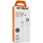 Hytech HY-X89 2.4A Micro USB Beyaz Şarj Kablosu 2 m