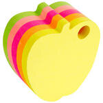 Hopax 21277 Yapışkanlı Not Kağıdı 70 mm x 70 mm Neon Elma Kesim 400 Yaprak