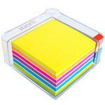 Hopax 21432 Kalemlikli Ayraçlı Yapışkanlı Not Kağıdı 76 mm x 76 mm Neon Renkler 400 Yaprak
