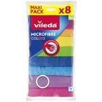 Vileda Mikrofiber Colors Temizlik Bezi 8'li Paket