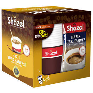Shazel Hazır Türk Kahvesi Seti Sade 10'lu Paket