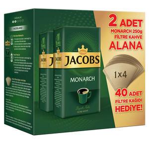 Jacobs Monarch Filtre Kahve 2 x 250 gr 40 Adet Filtre Kağıdı Hediyeli