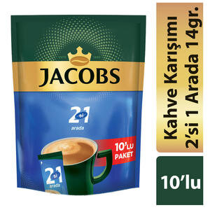 Jacobs 2'si 1 Arada Kahve 14 gr 10'lu Paket