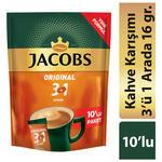Jacobs 3'ü 1 Arada Kahve 12 gr 10'lu Paket