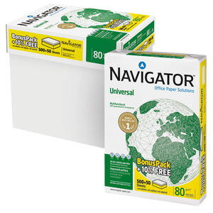 Navigator A4 Fotokopi Kağıdı 80 gr 1 Koli (5 Paket) - %10 Daha Fazla