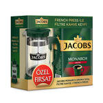 Jacobs Monarch Aroma Filtre Kahve 500 gr French Press Hediyeli