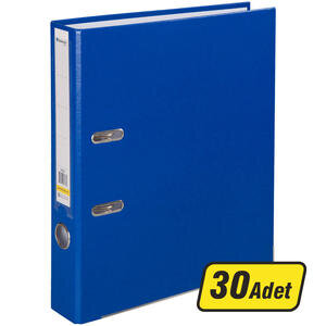 Avansas Extra Plastik Klasör Dar A4 Mavi 1 Koli (30 Klasör)