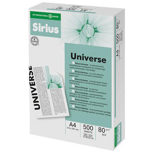 Sirius A4 Fotokopi Kağıdı 80 Gr 1 Koli (5 Paket)
