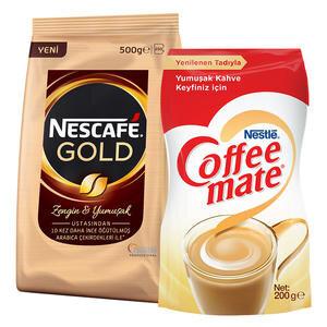 Nescafe Gold Kahve 500 gr Poşet + Coffe-Mate Kahve Kreması 200 gr Hediyeli