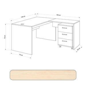 Avansas Comfort Çalışma Masası Takımı 140 cm Akçaağaç (Masa + Keson)