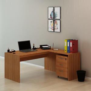 Avansas Comfort Çalışma Masası Takımı 160 cm Teak (Masa + Keson)