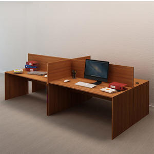 Avansas Comfort Dörtlü Workstation Çalışma Masa Grubu Teak