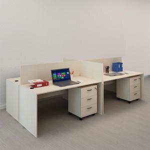 Avansas Comfort Dörtlü Workstation Çalışma Masa Grubu Akçaağaç (Masa+Keson)
