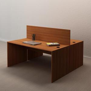 Avansas Comfort İkili Workstation Çalışma Masa Grubu Teak