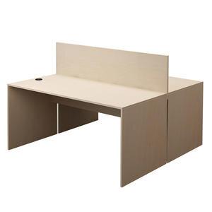 Avansas Comfort İkili Workstation Çalışma Masa Grubu Akçaağaç
