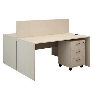 Avansas Comfort İkili Workstation Çalışma Masa Grubu Akçaağaç (Masa+Keson)
