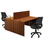 Avansas Comfort İkili Workstation Çalışma Masa Grubu Teak (Masa+Çalışma Koltuğu)