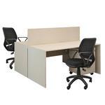 Avansas Comfort İkili Workstation Çalışma Masa Grubu Akçaağaç (Masa+Çalışma Koltuğu+Keson)