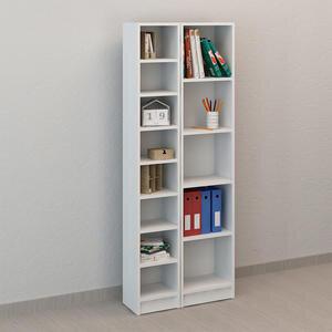 Avansas Comfort 2'li Takım 13 Raflı Kitaplık Beyaz