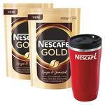 Nescafe Gold Kahve Poşet 200 gr x 2 Adet Alana Thermo Mug Hediye